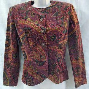 VTG 1990s Paisley Peplum Blazer & Skirt